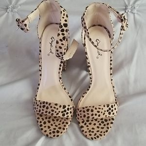 Cheetah print qupid heels